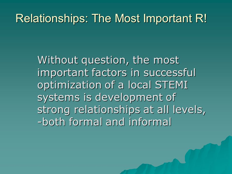 Relationships: The Most Important R!