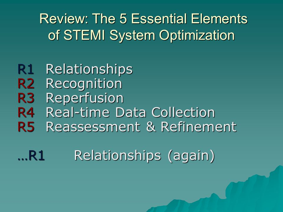 Review: The 5 Essential Elements of STEMI System Optimization