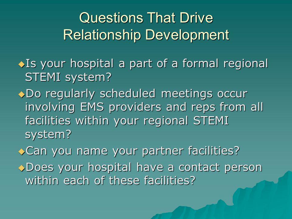 Questions That Drive Relationship Development