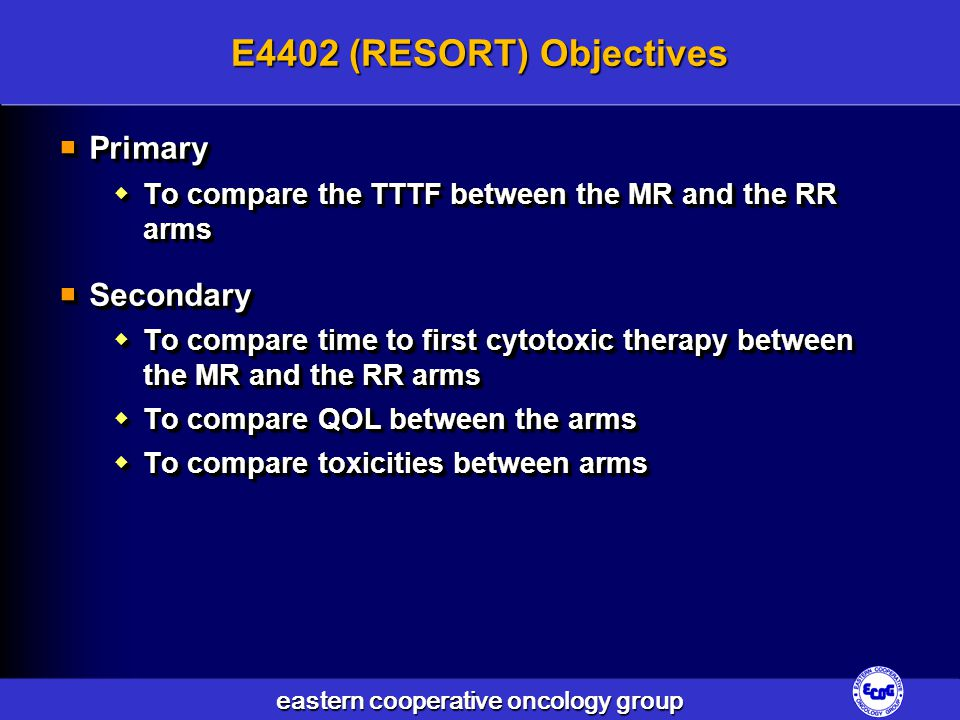 E4402 (RESORT) Objectives Primary Secondary