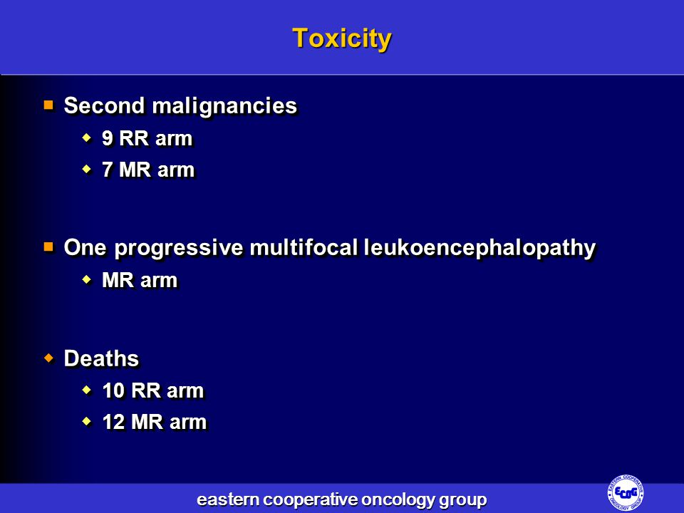 Toxicity Second malignancies