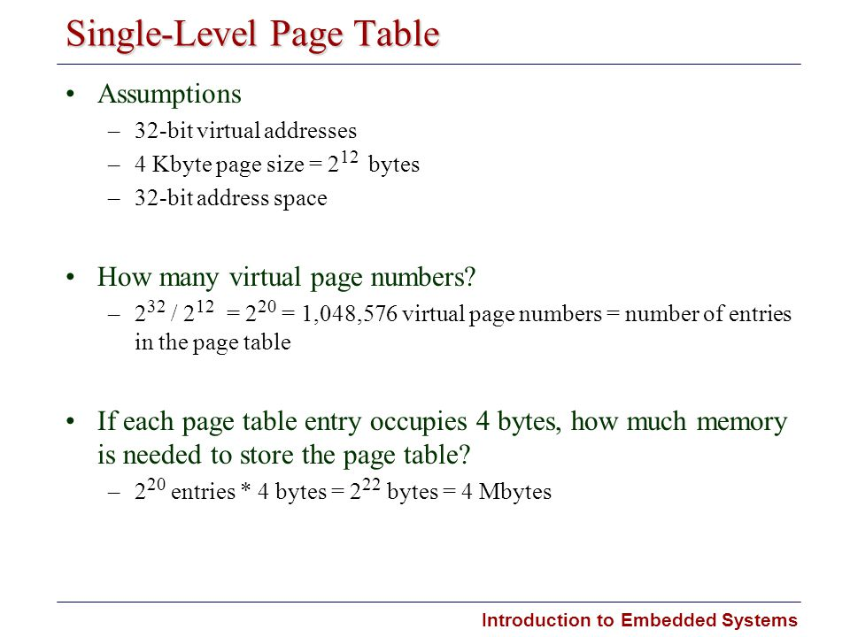 Single-Level Page Table