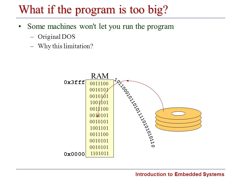What if the program is too big