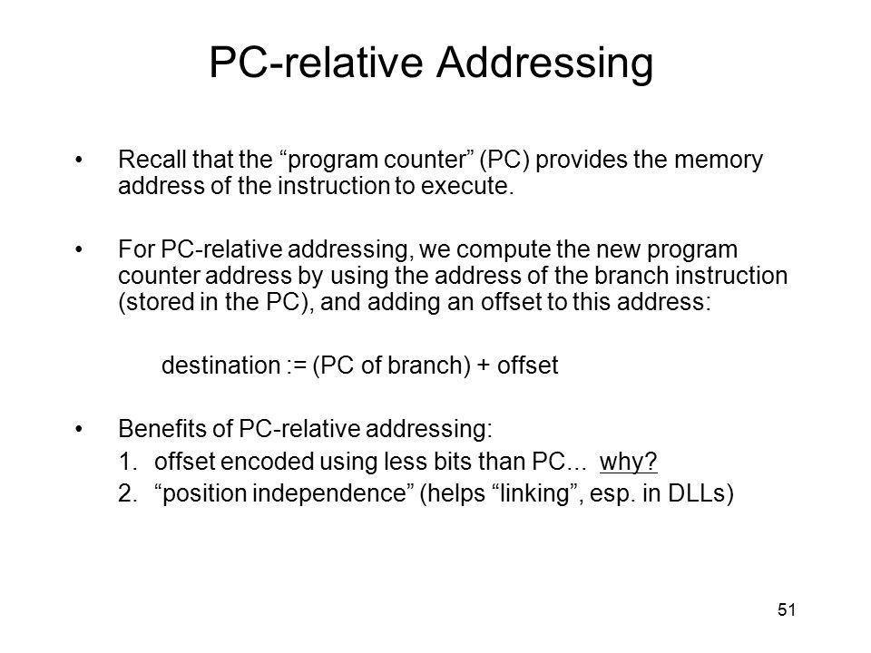PC-relative Addressing