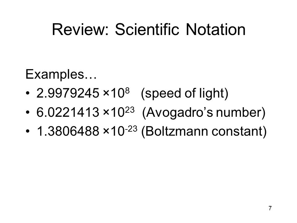 Review: Scientific Notation
