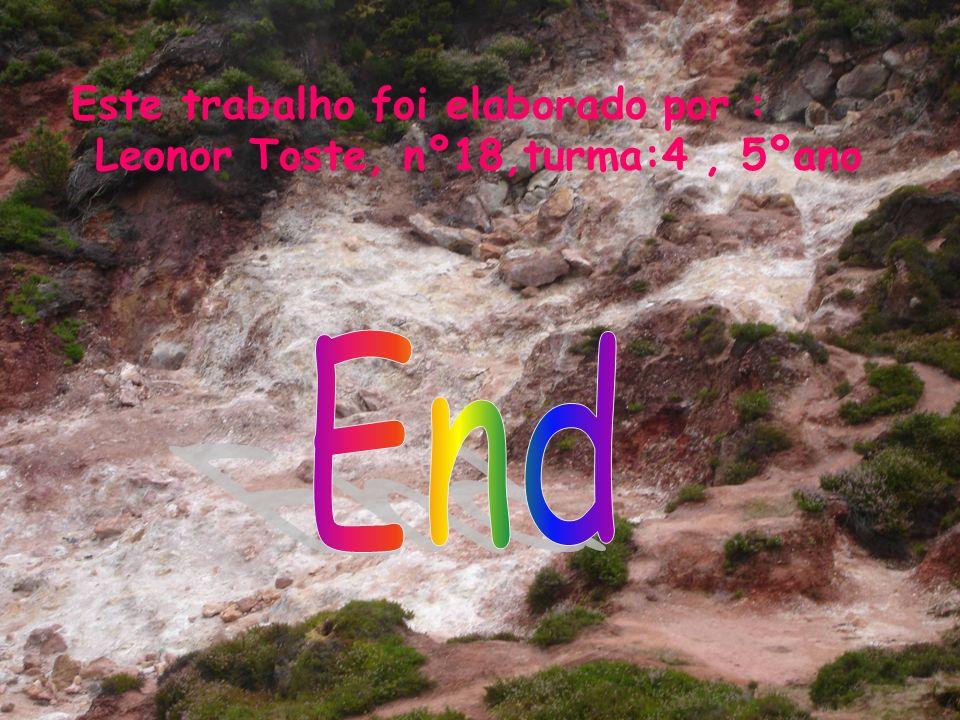 Este trabalho foi elaborado por : Leonor Toste, nº18,turma:4 , 5ºano