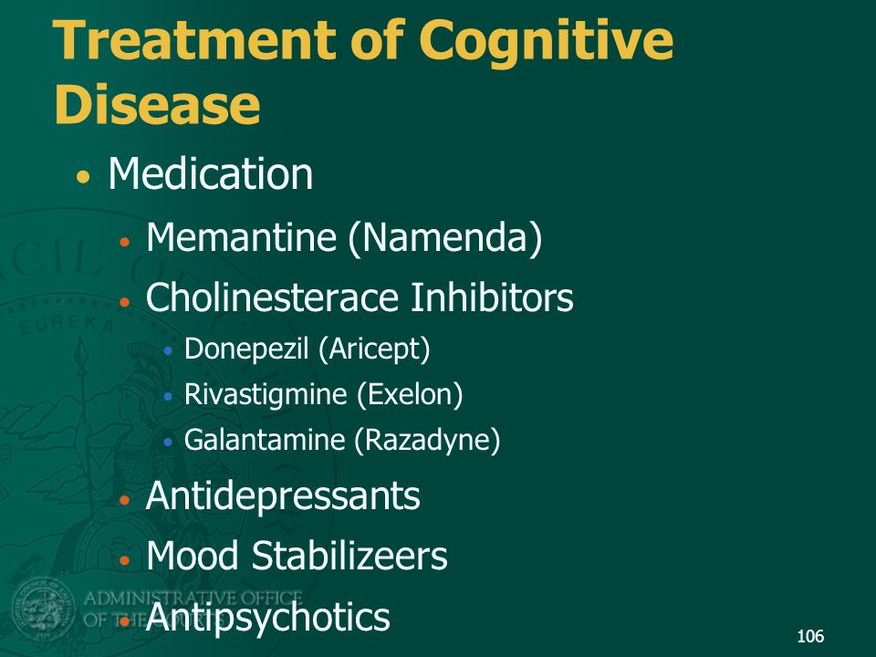 Treatment of Cognitive Disease