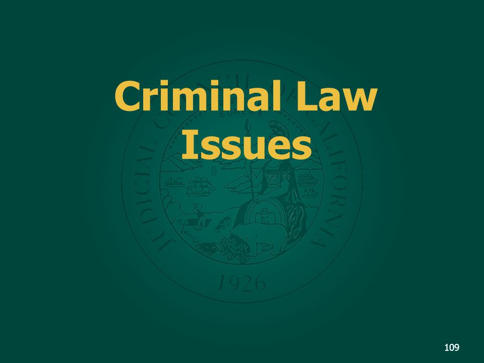 Criminal Law Issues