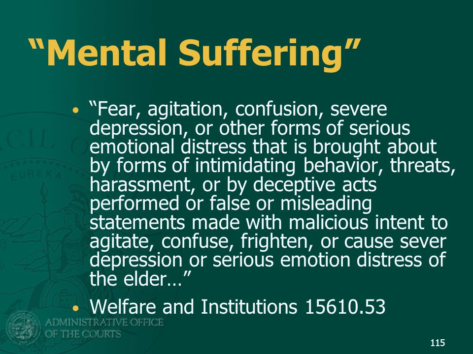 Mental Suffering