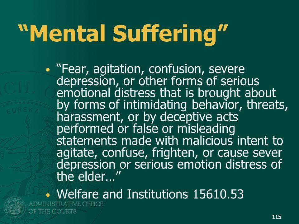 Mental Suffering