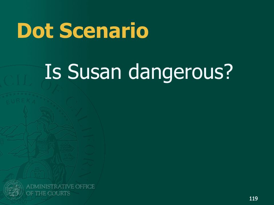 Dot Scenario Is Susan dangerous