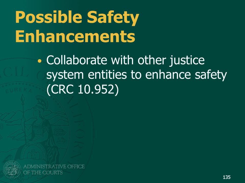 Possible Safety Enhancements