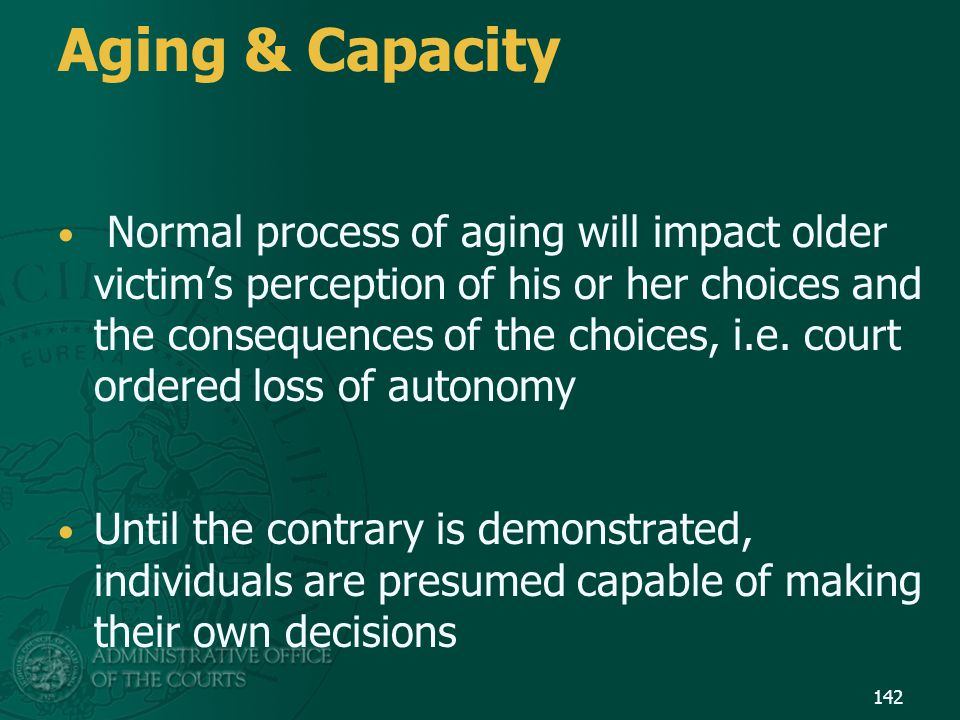 Aging & Capacity