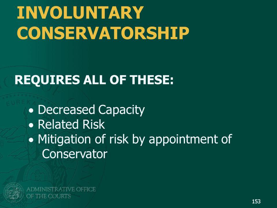 INVOLUNTARY CONSERVATORSHIP