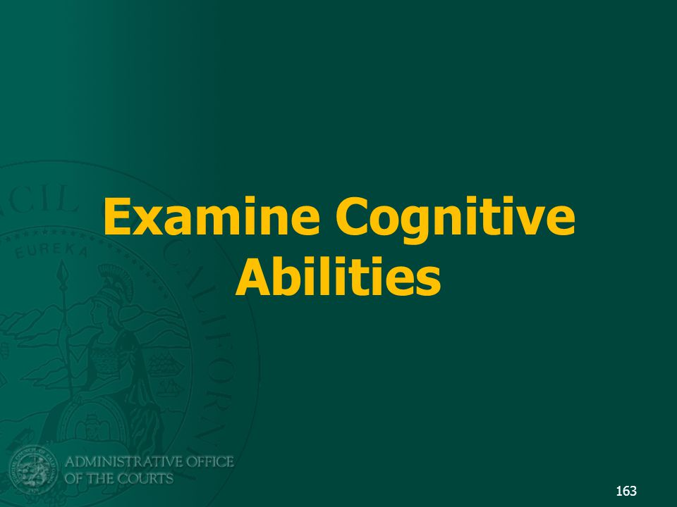 Examine Cognitive Abilities