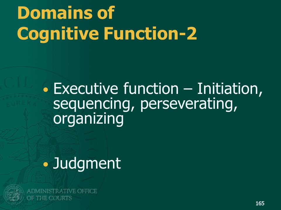 Domains of Cognitive Function-2