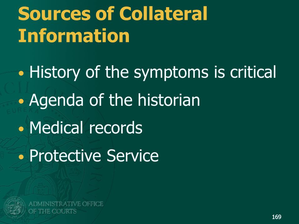 Sources of Collateral Information