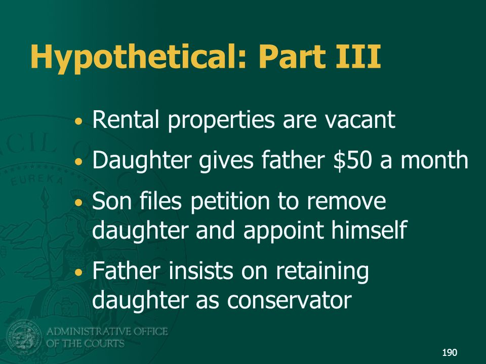 Hypothetical: Part III