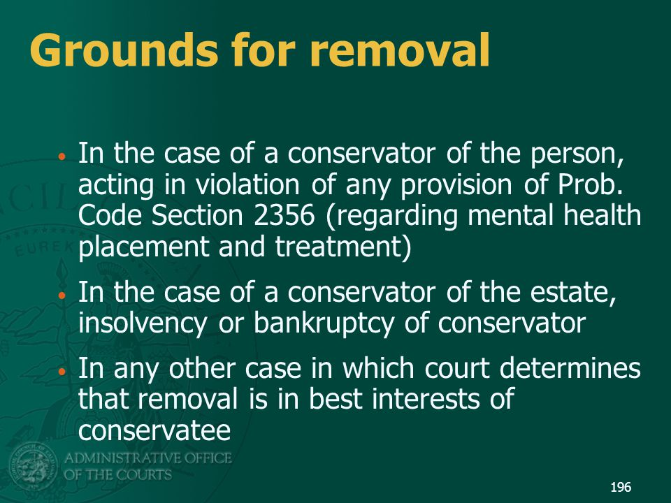 Grounds for removal