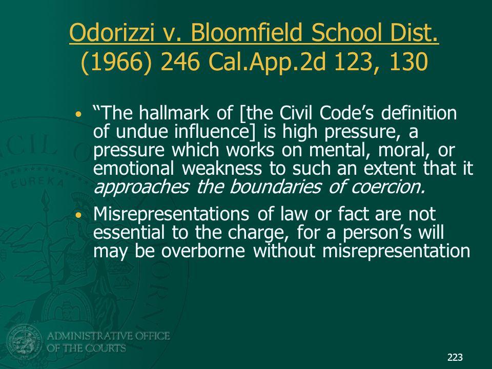 Odorizzi v. Bloomfield School Dist. (1966) 246 Cal.App.2d 123, 130