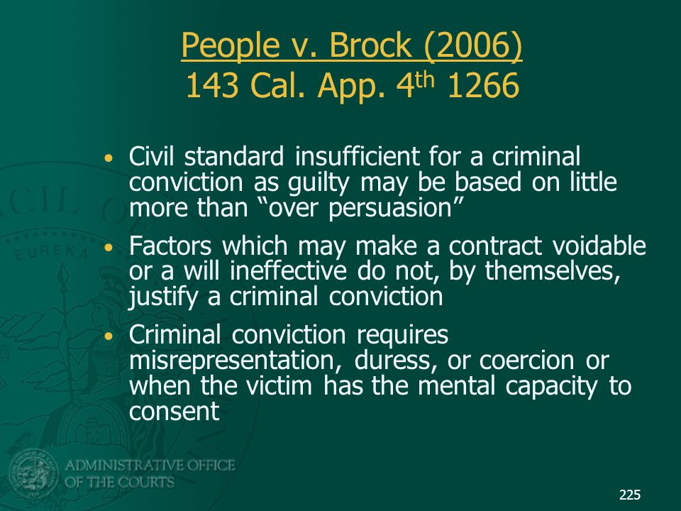 People v. Brock (2006) 143 Cal. App. 4th 1266