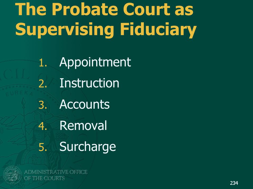 The Probate Court as Supervising Fiduciary
