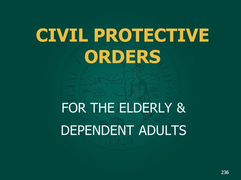 CIVIL PROTECTIVE ORDERS
