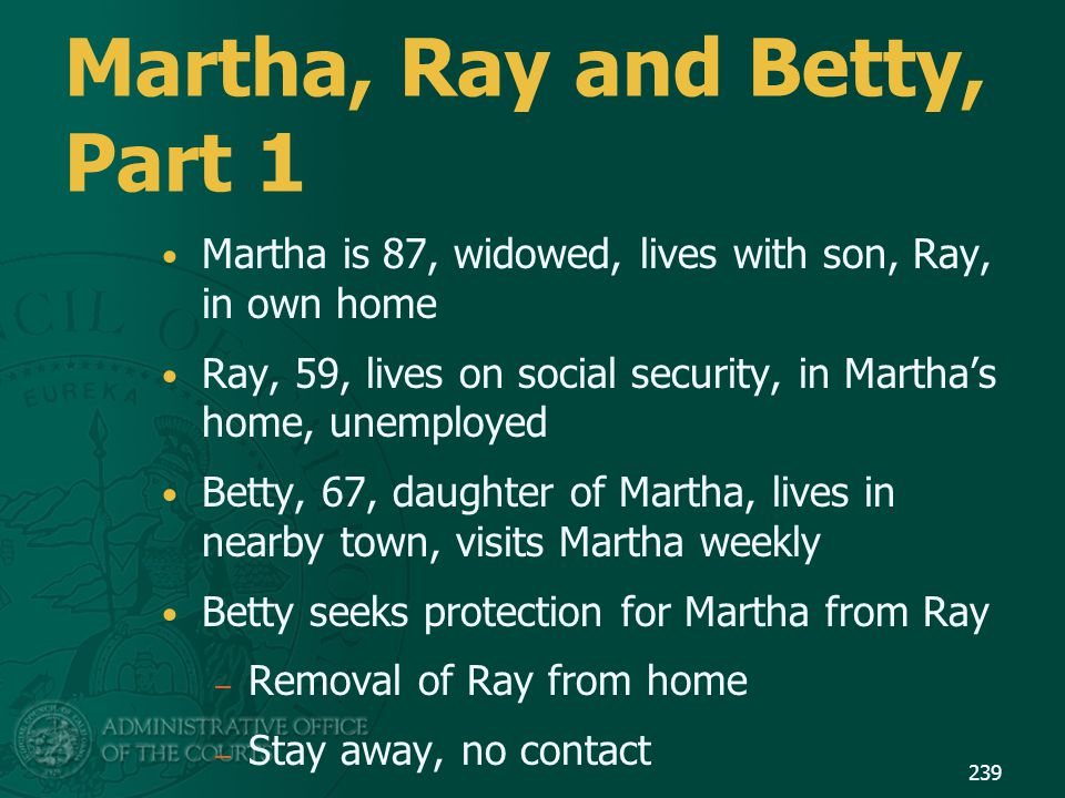 Martha, Ray and Betty, Part 1