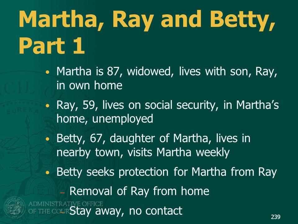Martha, Ray and Betty, Part 1