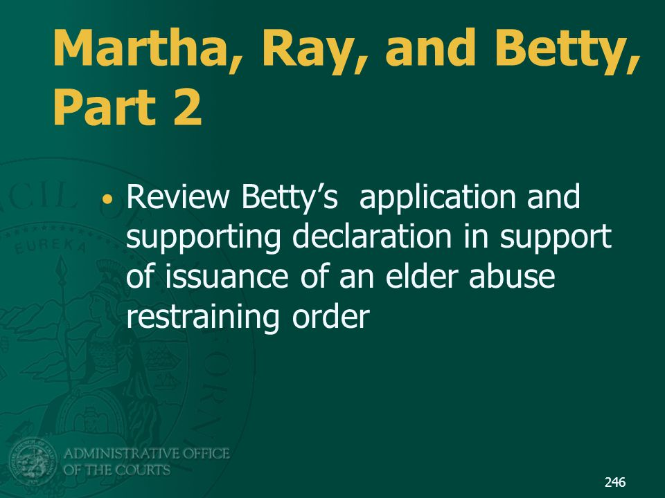 Martha, Ray, and Betty, Part 2