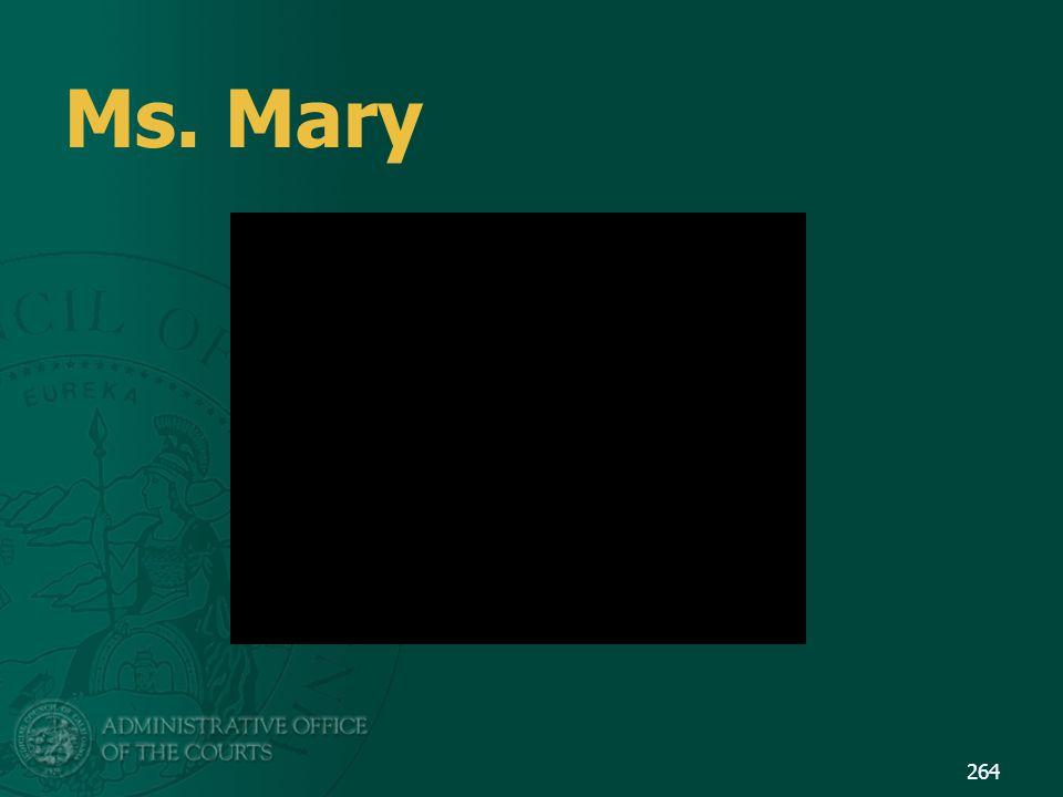 Ms. Mary