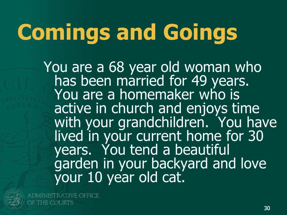 Comings and Goings