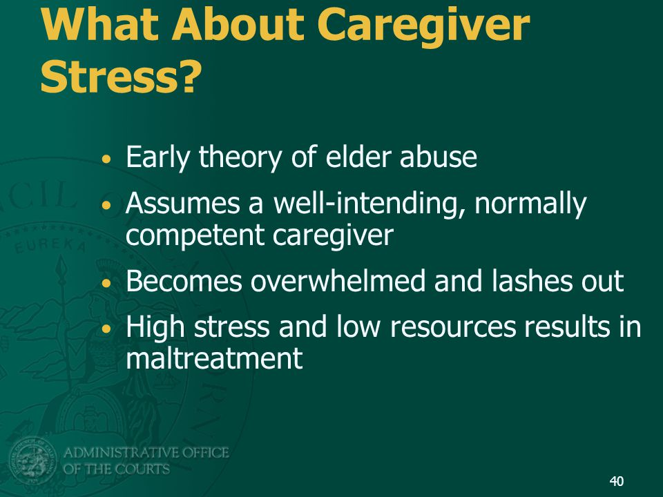 What About Caregiver Stress