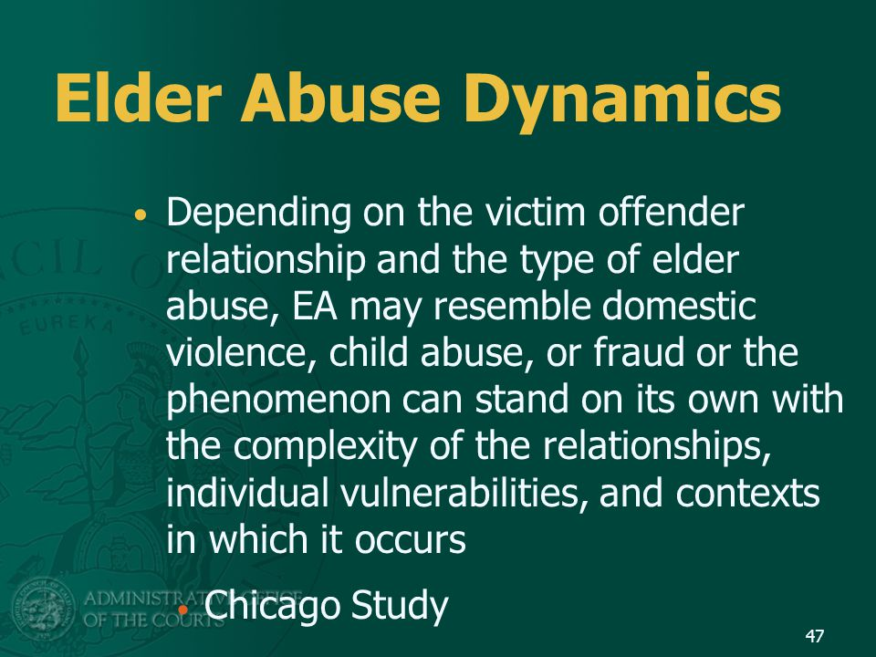 Elder Abuse Dynamics