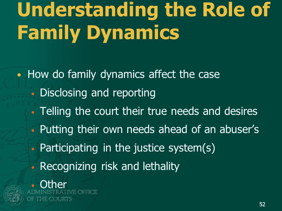 Understanding the Role of Family Dynamics