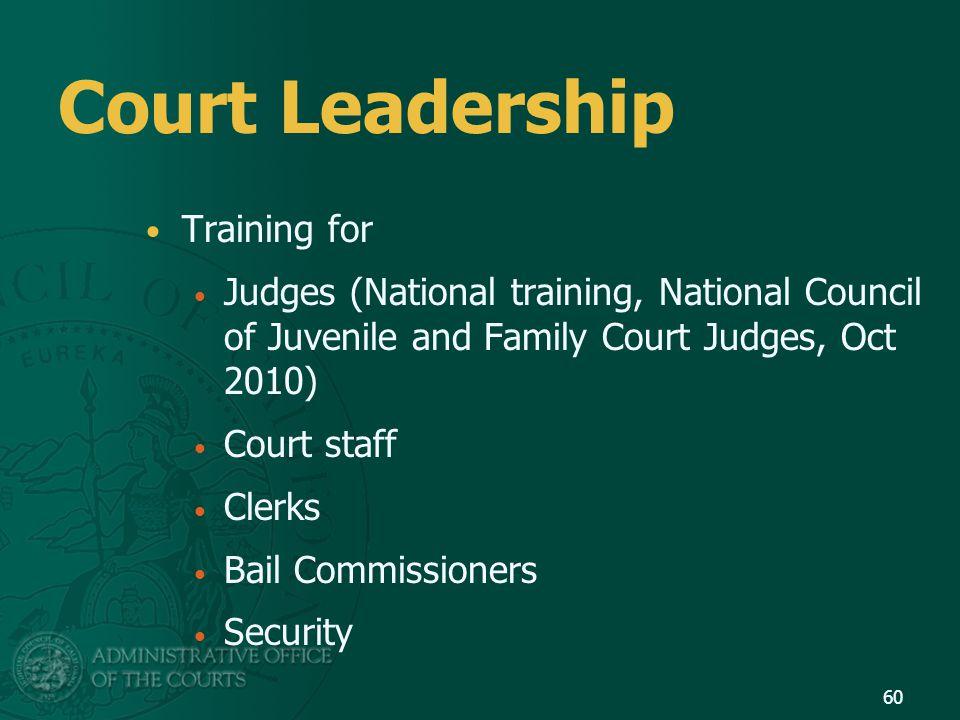 Court Leadership Training for