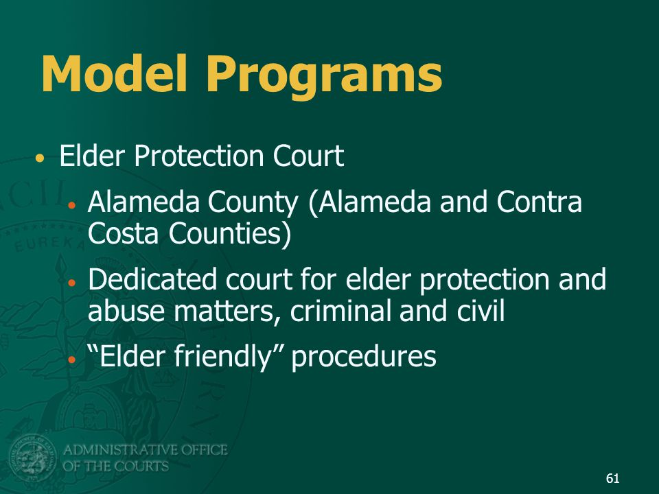 Model Programs Elder Protection Court