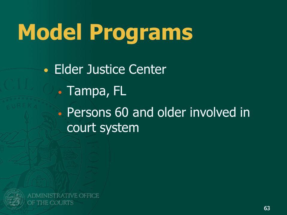 Model Programs Elder Justice Center Tampa, FL
