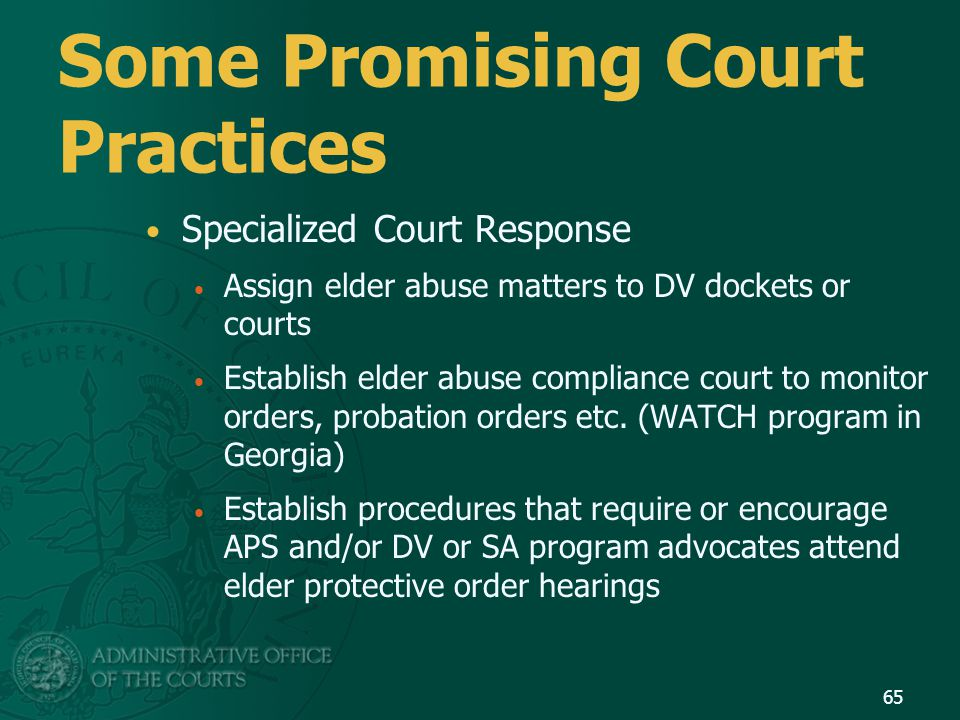 Some Promising Court Practices