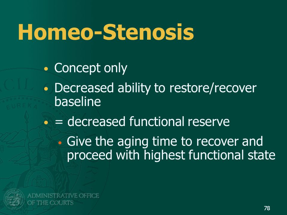 Homeo-Stenosis Concept only