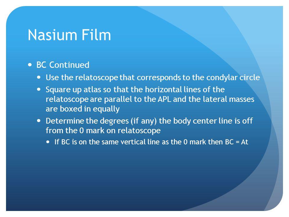 Nasium Film BC Continued