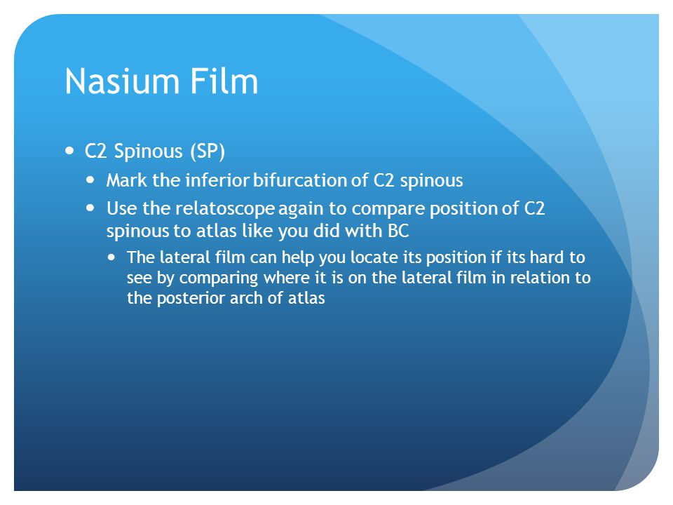 Nasium Film C2 Spinous (SP)