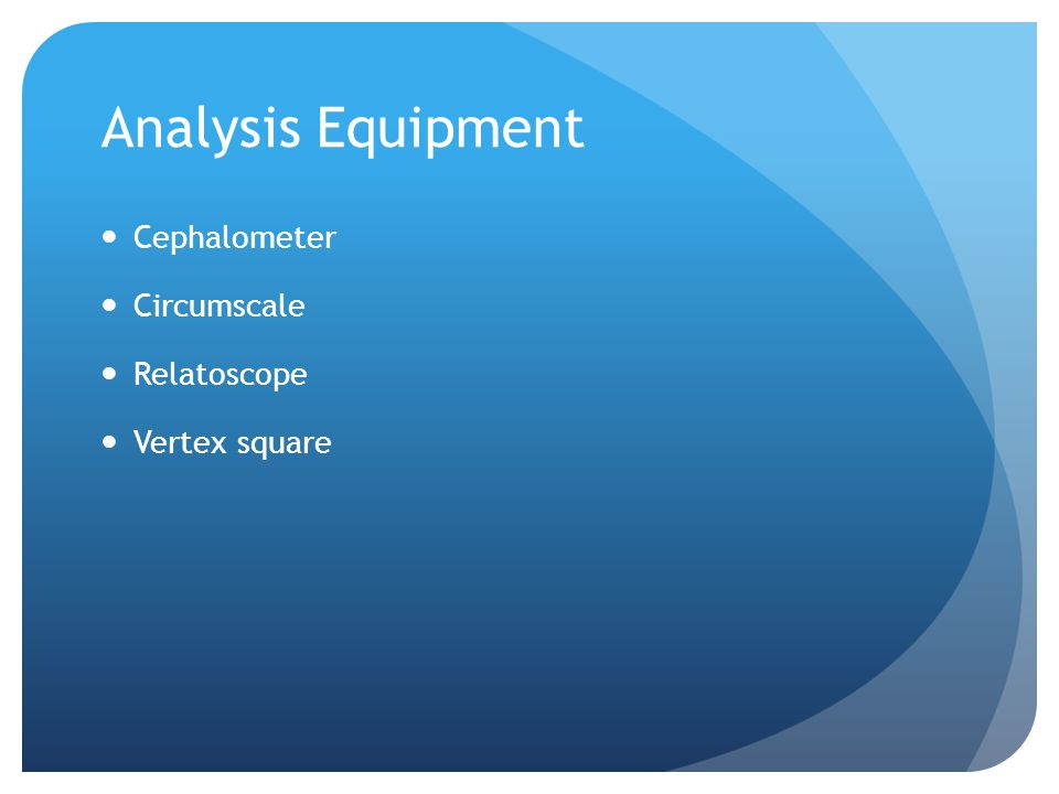 Analysis Equipment Cephalometer Circumscale Relatoscope Vertex square