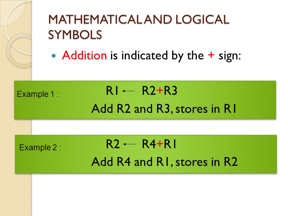 MATHEMATICAL AND LOGICAL SYMBOLS