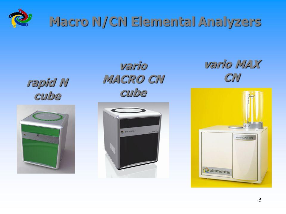 Macro N/CN Elemental Analyzers