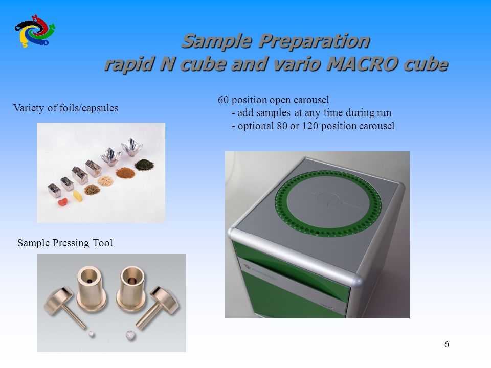 Sample Preparation rapid N cube and vario MACRO cube