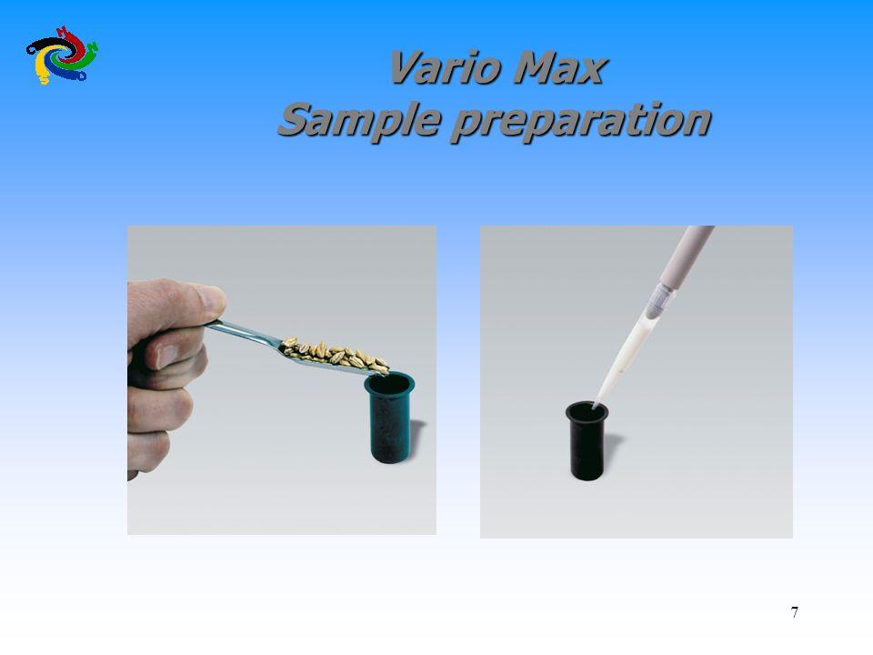 Vario Max Sample preparation