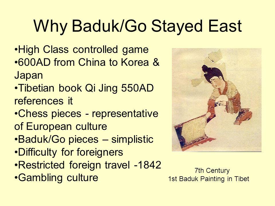 Why Baduk/Go Stayed East