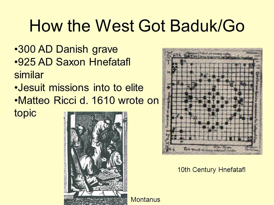 How the West Got Baduk/Go
