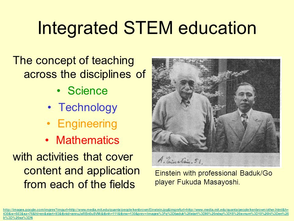 Integrated STEM education